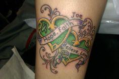 #hope #faith #believe #love #hearts #color #tattoo #cancerribbon #studio13tattoomg