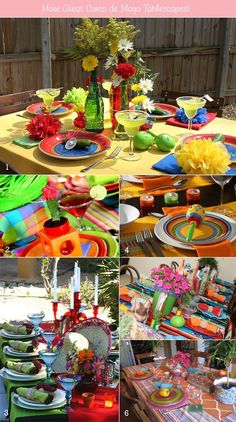 Table Setting Ideas for Mexican Parties