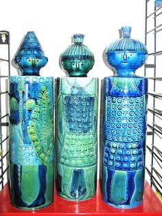 Vintage Mid-Century Modern Lamp Base Fig era Bitossi Raymor Aldo Londi Eames