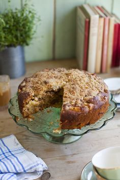 Irish Apple Crumble Cake | DonalSkehan.com, A crumble/cake hybrid resulting in the BEST dessert!