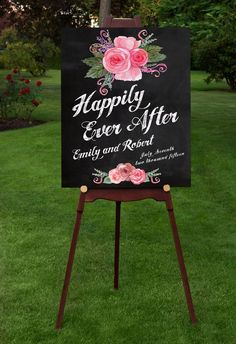 Wedding Welcome sign poster for your special day. An elegant and stylish way to welcome your guests. Modern type, with colorful spring flowers on faux chalkboard background and faux chalk text. Personalized with your names and wedding date. Wedding Signage, Rustic Wedding, Our Wedding, Dream Wedding, Wedding Welcome Signs, Here Comes The Bride, Happily Ever After, Personalized Wedding, Special Day