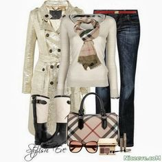 if i was a fashion designer i would make the coat shorter and replace the boots for brown leather ones but the top jeans and scarf are really cute