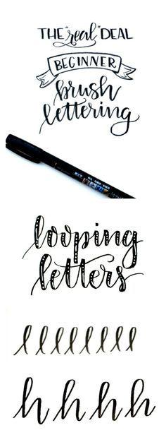 Beginner Brush Lettering: Looping Letters - One Artsy Mama