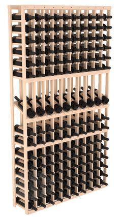 Handmade Wooden 8 Column 120 Bottle Display Row Wine Cellar Kit in Ponderosa Pine. 13 Stain Combinations to Choose From! : Handmade Wooden 8 Column 120 Bottle Display Row Wine Cellar Kit in Ponderosa Pine. Wine Racks America, Wine Cellar Racks, Wine Rack Design, Bottle Display, Wine Case, Wine Fridge, Wine Refrigerator, Wood Display, Italian Wine