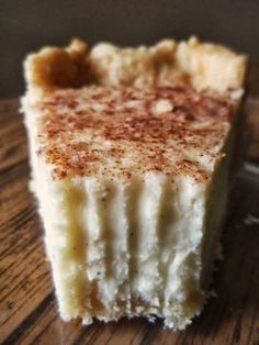 Vanilla Bean Cream Pie - Yep, this pie is truly tasty. Though there are no eggs in it, it sets up like a dream and is extremely smooth and velvety. The highlight for me, of course, is the sprinkling of cinnamon.