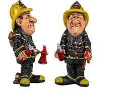 Funny figures - De Funny figures serie bestaat uit polyresin karikaturen van ca. 15 cm hoog. Spaar ze allemaal voor een unieke collectie! Deze Funny figure is de karikatuur van een brandweerman. Het figuur is ca. 16,5 cm hoog.brandweerman.