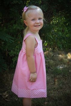 Toddler Pink and White Sundress Jumper with Hair Bows Size 2 | JoyfullySewnDesigns - Clothing on ArtFire