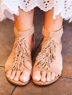 Fun fringe sandal!