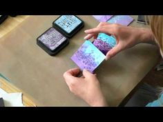 Backgrounds with Distress - YouTube- seen these ideas before but nice to watch and I love the 2 colours she uses tigether