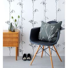 Ferm LIVING Berry Black Wallpaper