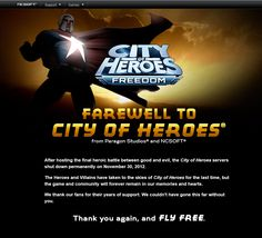 Well seeing this admittedly choked me up a bit. Not because the wording or anything, but because it's a blatant reminder that the game I've loved for s. City of Heroes City Of Heroes, Rest In Peace, Cape, Gaming, Deviantart, Ideas, Cabo, Capes, Game