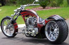 Custom Chopper....Beautiful curves, chrome and paint.