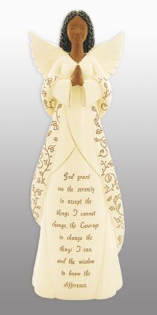 Serenity Prayer African American Angel