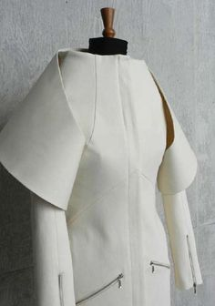 Innovative Pattern Cutting - sculptural jacket design based on Emilio de la Morena A/W 2009; fashion design; creative sewing
