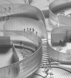 Human body museum, big (denmark) competition winning entry b Folding Architecture, Concept Models Architecture, Architecture Student, Futuristic Architecture, Architecture Details, Interior Architecture, Body Museum, Win Competitions, Design Museum