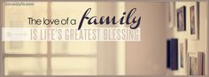 The Love of a Family Facebook Cover