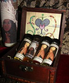 Marie Laveaux Magickal Hoodoo Oils - Set of 4 with Box