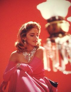 Madonna on the set of Material Girl (1985)