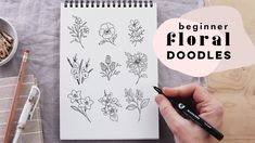 9 Simple Floral Doodles   How to Draw Flowers Step By Step Doodle Drawings, Doodle Art, Easy Drawings, Drawing Board, Painting & Drawing, Floral Doodle, Floral Drawing, You're Awesome, Draw Flowers