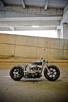 "Rough Crafts - ""Graphite Speedster"" | Bobber Inspiration - Bobbers and Custom Motorcycles October 2014"