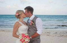 Melissa & Ryan's destination wedding in Mexico, Mexico beach wedding, Mexico wedding ideas @destweds