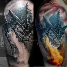 Before and after of Noah's new tattoo...thats awsome