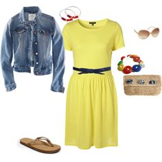 Cute outfit, wish the dress was in a different color..