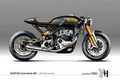 """Norton Commando 961 / S383 Motorcycles"" by Holographic Hammer"