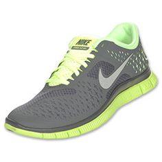Nike Free Run+ 4.0 Women's Running Shoes (Liquid Lime/Reflective Silver/Dark Grey)