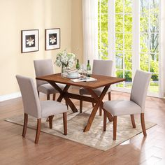 Dorel Living Trestle Dining Table