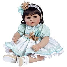 """Adora Toddler Honey Bunch 20"""" Girl Weighted Doll Gift Set For Children 6  Huggable Vinyl Cuddly Snuggle Soft Body Toy * Continue to the product at the image link. (This is an affiliate link) #DollsAccessories"""