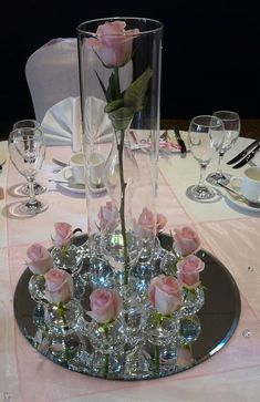 Wedding Table Centre Pieces is part of Wedding table centres - Visit the post for Table Centre Pieces Wedding, Wedding Table Centres, Wedding Table Centerpieces, Floral Centerpieces, Floral Arrangements, Wedding Decorations, Table Wedding, Pink Table Decorations, Tall Centerpiece