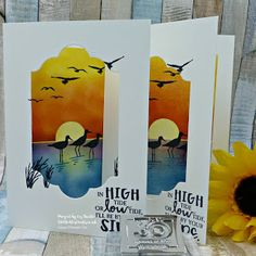 Old Stables Crafts Birthday Cards For Men, Handmade Birthday Cards, High Tide Stampin Up, Cardio Cards, Screen Cards, Nautical Cards, Beach Cards, Bird Cards, Am Meer