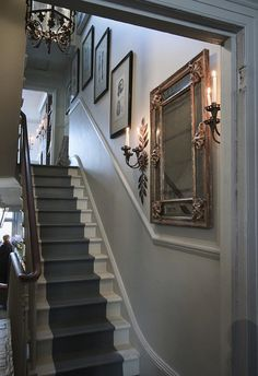 Staircase wall is often a cold corner overlooked by homeowners. But with a little creativity, your staircase wall can be transformed from an ignored area to an attractive focal point. The staircase wall is just House Design, Hallway Decorating, House, Interior, Staircase Wall, Victorian Hallway, Staircase Design, House Staircase, Entrance Hall Decor
