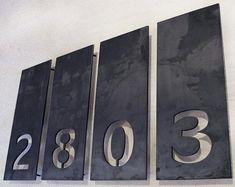 Aligned Single Number Address Plaques