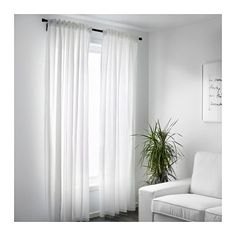 VIVAN Curtains, 1 pair  - IKEA   8' long, only $10! We need a bunch of nice curtains for the new place - at least 4 sets