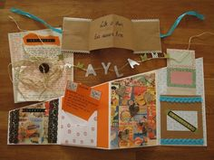 Zigzag booklet and snailmail goodies I made.
