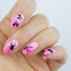 halloween nails, halloween nail art, ombre nails, snail vinyls, mitty, ombre nail art, how to keep your nails clean when doing ombre art