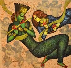 Image result for nityam singha roy paintings Jai Shree Krishna, Krishna Art, Hare Krishna, Krishna Painting, Fantasy Images, Figure Painting, Indian Art, Folk Art, Contemporary Art