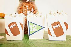 TOUCHDOWN Football Party Snack Boxes