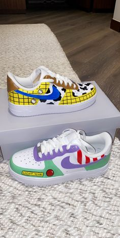 Disney Painted Shoes, Custom Painted Shoes, Disney Shoes, Custom Shoes, Custom Af1, Hand Painted Shoes, Dr Shoes, Cute Nike Shoes, Swag Shoes