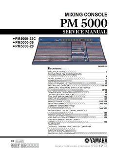 Yamaha 01V96 Digital Mixing Console Service Manual and ...