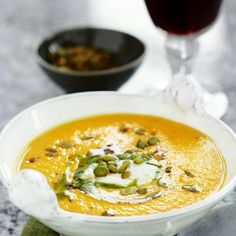 sweet potatoe soup with chèvre Baby Food Recipes, Wine Recipes, Soup Recipes, Vegetarian Recipes, Healthy Recipes, Healthy Foods, I Love Food, Good Food, Yummy Food