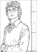 Coloriage de Harry dans la cours