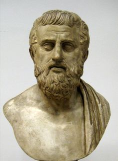 Sophocles. Cast of a bust in the Pushkin Museum. Ancient Greek: c. 497/6 – winter 406/5 BC) is one of three ancient Greek tragedians whose plays have survived. Sophocles wrote 120 plays during the course of his life, but only seven have survived in a complete form. The most famous tragedies of Sophocles feature Oedipus and also Antigone.