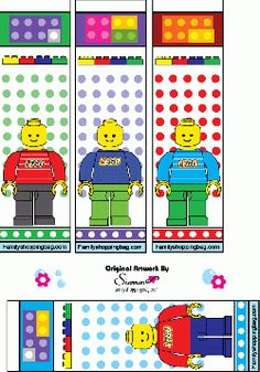 Free Printable Lego Bookmarks