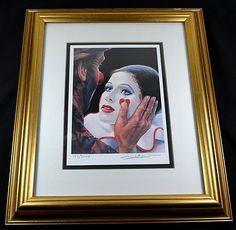 Poignant - Yes?  Limited Edition & Hand Signed Barry Leighton Jones Wood Frame & Plexiglass