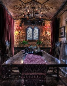 Victorian gothic decor, gothic interior, gothic house, interior exterior, i Gothic Interior, Gothic Home Decor, Victorian Decor, Victorian Homes, Medieval Home Decor, Victorian Interiors, Home Interior, Interior Ideas, Council House