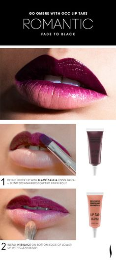 Beautiful as they are worn alone, we're obsessed with mixing #OCC Lip Tars create new shades and ombre effects. Enter David Klasfeld, the brand's founder, who graciously took some time from his hectic fashion week schedule to make up some looks we can't wait to try. Here's the Romantic Fade to Black Lip HOW TO #Sephora #makeup