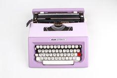 VIOLET OLIVETTI LETTERA 25- lilac vintage typewriter - working typewriter - portable 1970s typewriter - working typewriter on Etsy, $263.19